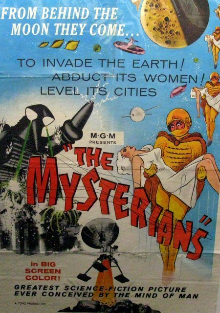 "THE MYSTERIANS - 1959 One Sheet Movie Poster - 27""x"