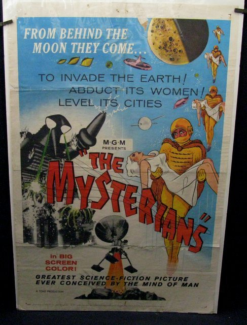 "THE MYSTERIANS - 1959 One Sheet Movie Poster - 27""x - 2"