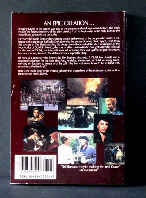 THE MAKING OF DUNE DELUXE TRADE PAPERBACK BOOK - 2