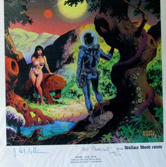 ADAM AND EVE DELUXE ART PRINT - Vanguard Productions,