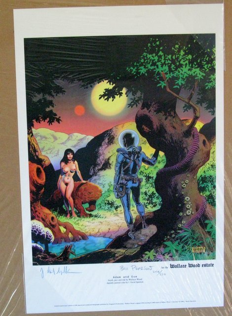 ADAM AND EVE DELUXE ART PRINT - Vanguard Productions, - 2