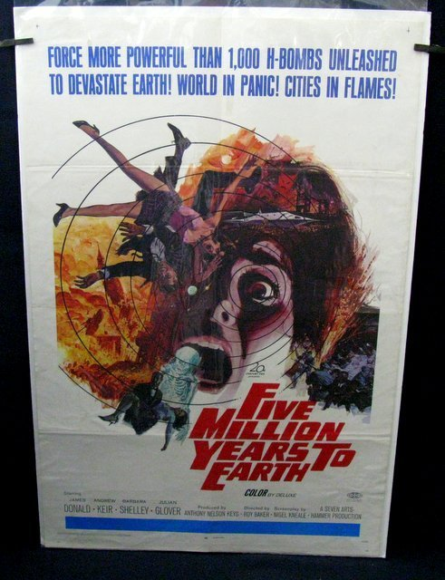 FIVE MILLION YEARS TO EARTH - 1967 One Sheet Movie