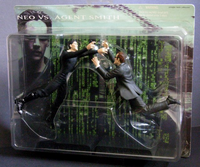 THE MATRIX NEO VS AGENT SMITH ACTION FIGURE DOUBLE PACK - 2