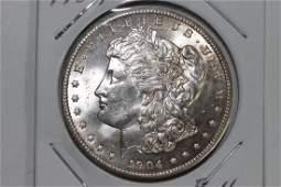 1904-O MORGAN SILVER DOLLAR B.U. GREAT MINT LUSTER