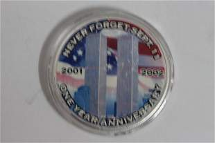 AMERICAN SILVER EAGLE 9/11 COMMEMORATIVE FEATURES THE