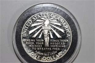 1986-S STATUE OF LIBERTY COMMEMORATIVE SILVER DOLLAR -