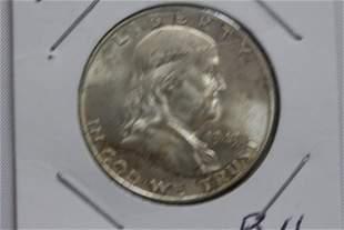 1949D FRANKLIN HALF DOLLAR B.U. W/ MINT LUSTER
