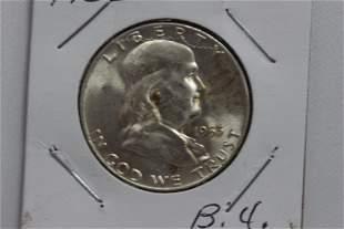 1953D FRANKLIN HALF-DOLLAR B.U.