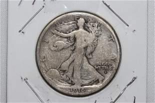 1916 STANDING LIBERTY HALF-DOLLAR VERY GOOD