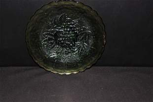 """IMPERIAL GRAPE 9"""" PLATE GREEN MINT"""