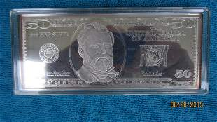 4 TROY OUNCES OF .999 SILVER BAR FROM THE WASHINGTON