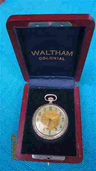 GREAT WALTHAM POCKET WATCH IN ORIGINAL WALTHAM COLONIAL