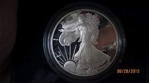 PROOF 2003 AMERICAN EAGLE 1 OUNCE SILVER BULLION COIN