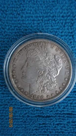 1896 US SILVER DOLLAR IN A.U. CONDITION FULL EAGLE