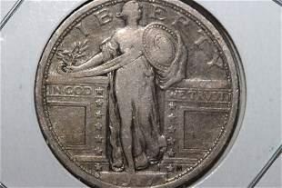 1917 STANDING LIBERTY QUARTER VERY GOOD