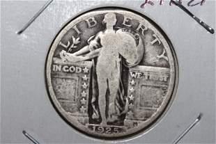 1925 STANDING LIBERTY QUARTER VERY GOOD