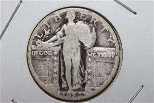 1926 STANDING LIBERTY QUARTER VERY GOOD