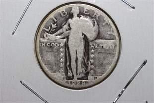 1928 STANDING LIBERTY QUARTER VERY GOOD