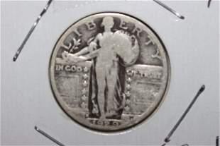1929D STANDING LIBERTY QUARTER VERY GOOD