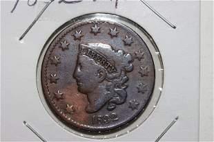 1832 LARGE CENT FINE+