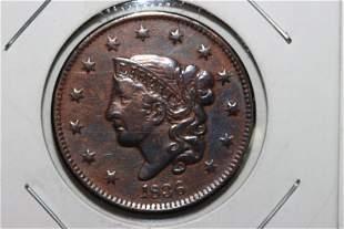 1836 LARGE CENT EX. FINE