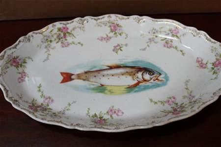 "LOVELY LG. FISH PLATTER - ROYAL AUSTRIA 18"" X 10.5"""