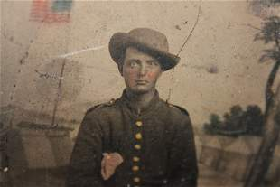 SUPER TIN TYPE - I THINK THIS IS A CAVALRY SOLDIER I