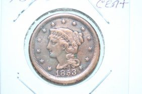 1853 Large Cent Extra Fine