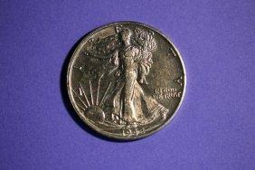 1942s Walking Liberty Half-dollar A.u. Mint Luster With