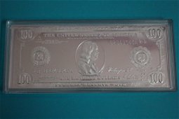 1914 $100 - 1 OZ. SILVER PROOF .999 PURE SILVER WITH