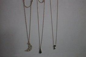 3 Sterling Silver Necklace Pendants