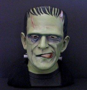 Karloff Frankenstein Lifesize Painted Portrait Bust -