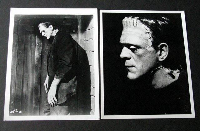 FRANKENSTEIN MONSTER - VINTAGE FILM STILLS - LOT OF 2 -