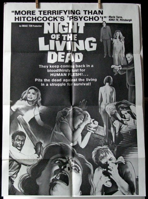 NIGHT OF THE LIVING DEAD - Original Drive-in Poster