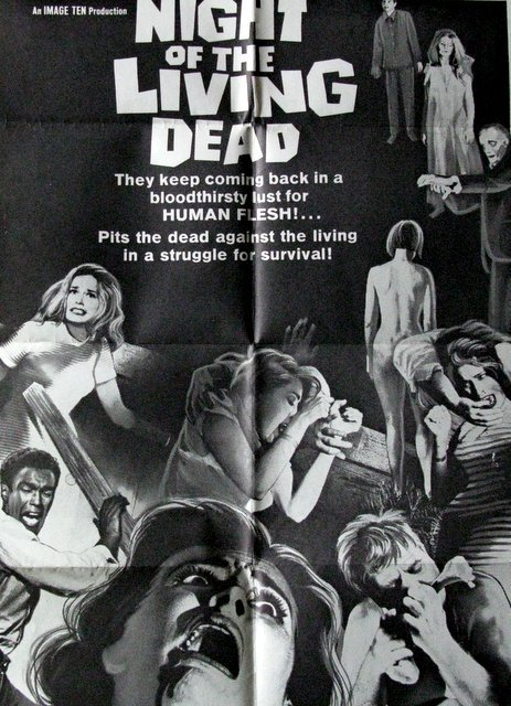 NIGHT OF THE LIVING DEAD - Original Drive-in Poster - 2