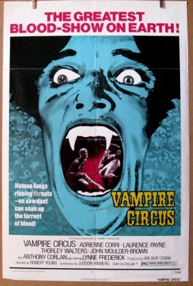 "Vampire Circus - 1972 - One Sheet Movie Poster - 27""x"