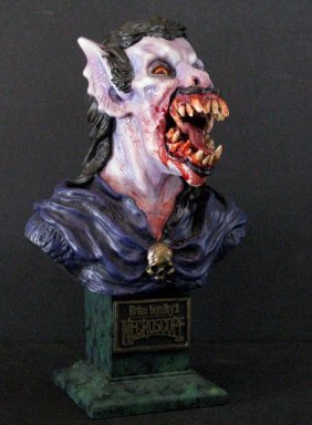 Slathis The Vampire - Painted Resin Portrait Bust -