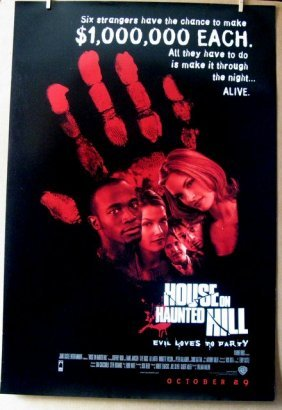 House On Haunted Hill - 1999 - One Sheet Movie Poster -