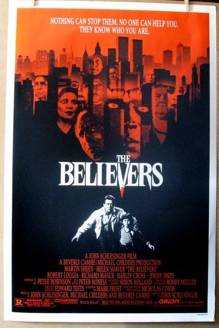 "THE BELIEVERS - 1987 - One Sheet Movie Poster - 27""x"