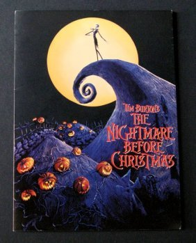 Nightmare Before Christmas Film Promo Booklet -