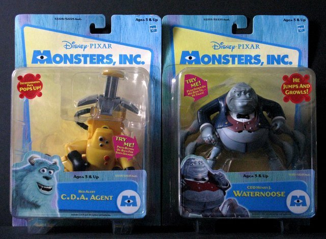 MONSTERS INC. - DELUXE BOX SET OF SIX & TWO ADDITIONAL