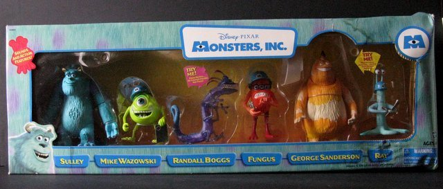 MONSTERS INC. - DELUXE BOX SET OF SIX & TWO ADDITIONAL - 3