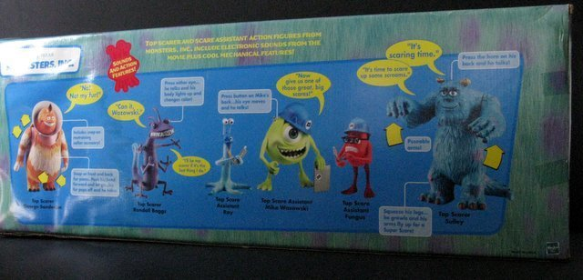 MONSTERS INC. - DELUXE BOX SET OF SIX & TWO ADDITIONAL - 6