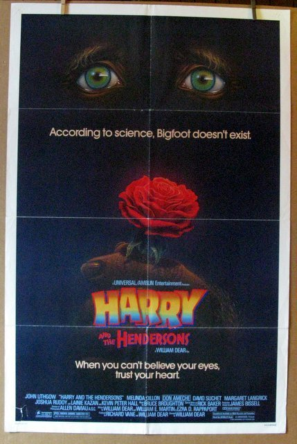 HARRY AND THE HENDERSONS - 1987 - One Sheet Movie