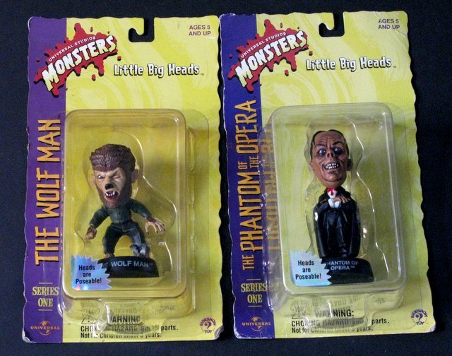 CLASSIC MONSTERS - LITTLE BIG HEADS, SERIES ONE - LOT - 3