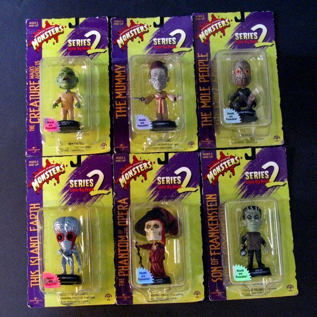 CLASSIC MONSTERS - LITTLE BIG HEADS - SERIES TWO - LOT
