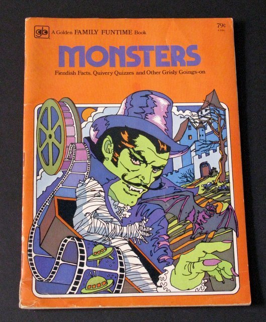 MONSTERS GOLDEN FAMILY FUNTIME BOOK - Golden Press,