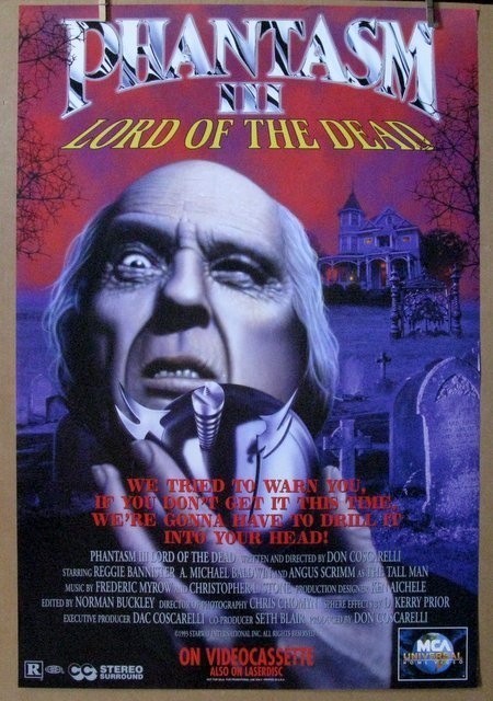 "PHANTASM III - 1993 - Video Poster 27"" x 40"""