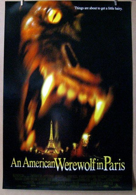 AN AMERICAN WEREWOLF IN PARIS - 1997 - One Sheet Movie