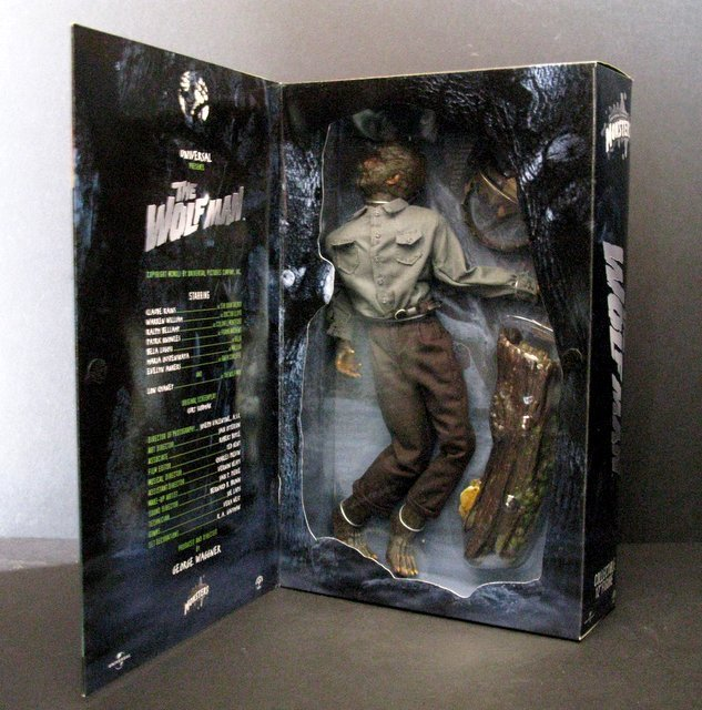"""THE WOLF MAN - DELUXE 12"""" FIGURE - Sideshow Toy, 2001 - - 2"""